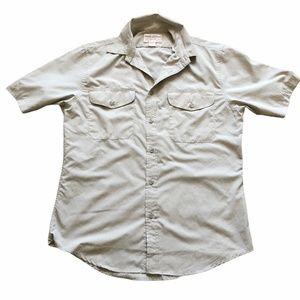 FILSON Desert Tan Rainier Button Down Shirt Small